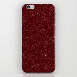 C13D Red Glitter iPhone Skin