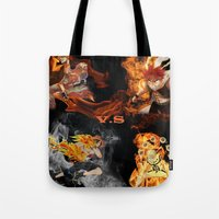 anime Tote Bags featuring Anime VS Anime  by Pierre Venter