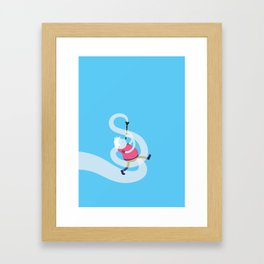 Make it up as you go along - blue Framed Art Print