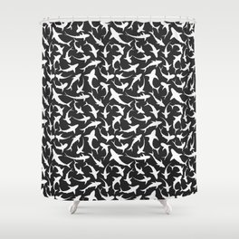 Sharks (inverted) Shower Curtain