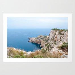 Summer landscapes around Costa Brava, impressive cliffs and coastlines. Art Print