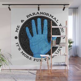 Me & Paranormal You - James Roper Design - Palmistry (black lettering) Wall Mural