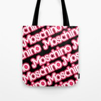 moschino Tote Bags featuring Moschino Everything Black by RickyRicardo787