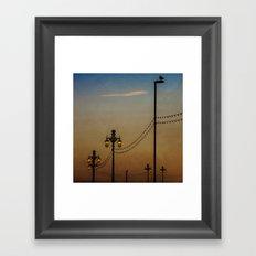 Streetlights At Dusk Framed Art Print