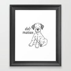 Dog Breeds: Dalmation Framed Art Print