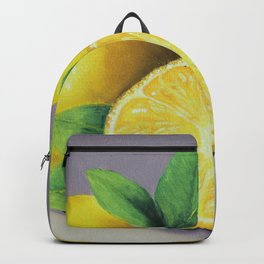 The Lemons, A Realistic Oil Painting Backpack