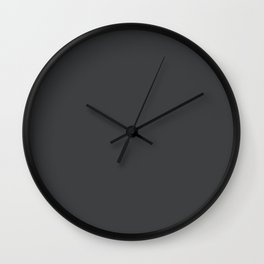 Dunn & Edwards 2019 Curated Colors Dark Engine (Dark Gray / Charcoal Gray) DE6350 Solid Color Wall Clock