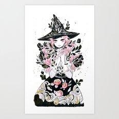 hydroponic witch Art Print
