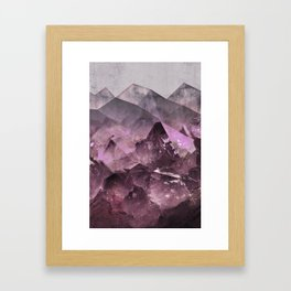 Quartz Mountains Framed Art Print