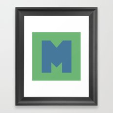 M is for... Framed Art Print