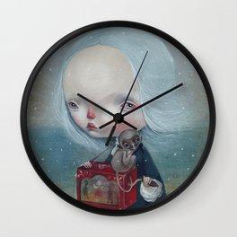 The sea is calm Wall Clock