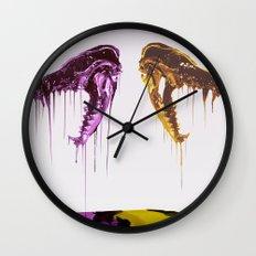 Painted Skull Wall Clock