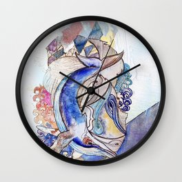 whale spotted Wall Clock