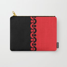 Red & Black  / Two Tone Modern Carry-All Pouch