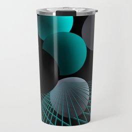 converging lines -2- Travel Mug