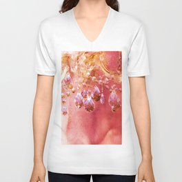 Crystal Chandelier First Blush Unisex V-Neck