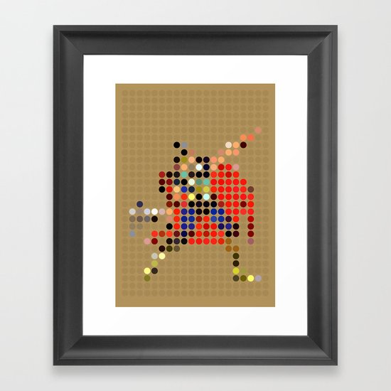 Mr Thunder Framed Art Print