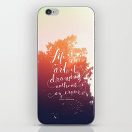 Sunrise with a quote iPhone Skin