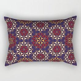 Flower of Life Pattern 27 Rectangular Pillow