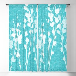 Pussywillow Silhouettes – Teal Texture Blackout Curtain
