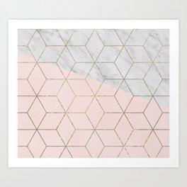 Florence dreams - marble geometric Art Print