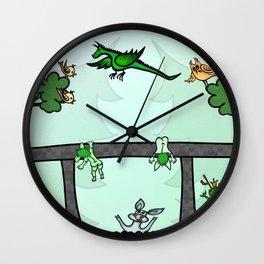 Troll family lives under the bridge Wall Clock