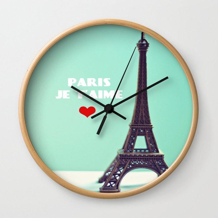Paris Je T'aime Wall Clock