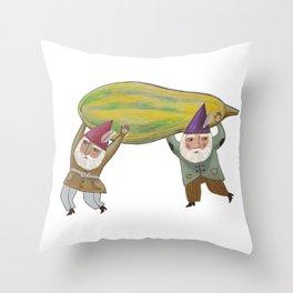 Squash Gnomes Throw Pillow