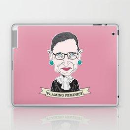 Ruth Bader Ginsburg The Notorious RBG Flaming Feminist Laptop & iPad Skin