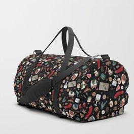 Dark Hygge Christmas Pattern Duffle Bag