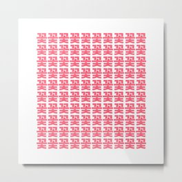 flower garden - Korean alphabet Metal Print