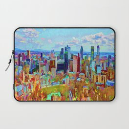 Montreal Skyline from Mount-Royal  Laptop Sleeve