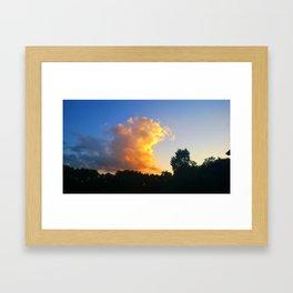Sunset Across the Street Framed Art Print