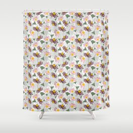 Cone Flowers Shower Curtain