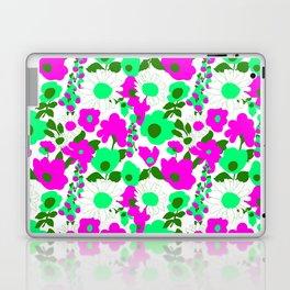 Mod Garden in White Pink + Green Laptop & iPad Skin