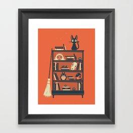 Ghibli Shelf // Miyazaki Framed Art Print