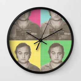 Jake Blues Mug Shot x 4 Wall Clock