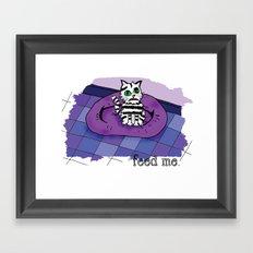 Hungry cat! Framed Art Print