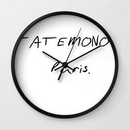 TATEMONO PARIS Wall Clock