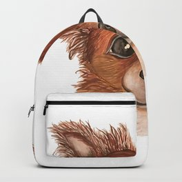 Alvin the Long-haired Chihuahua Backpack