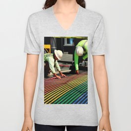 Laying It On The Line Unisex V-Neck