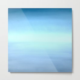 New Day 7 Light Burst Aqua Blue - Abstract Art Series by Jennifer Berdy Metal Print
