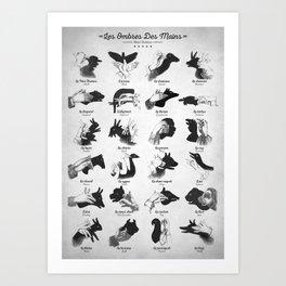 Hand Shadows Art Print