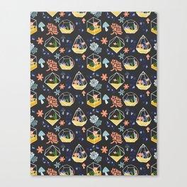 Succulent & Cactus Terrariums Canvas Print