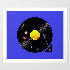 Solar System Vinyl Record Art Print