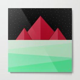 Mountain Design Metal Print