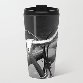 Bike Under The Rain Metal Travel Mug