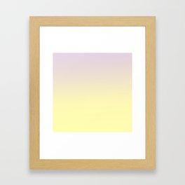 GLOWING MUSTARD - Minimal Plain Soft Mood Color Blend Prints Framed Art Print