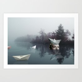 paperboats Art Print