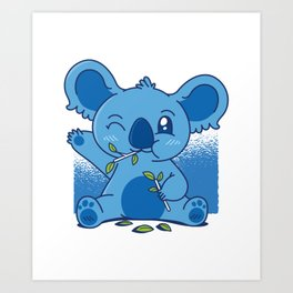 Blue Baby Koala Art Print